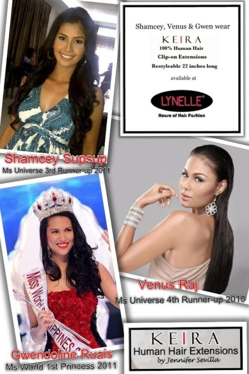 Pride of the Philippines..Shamcey,Venus & Gwen love wearing KEIRA Hair Extensions! We are so happy & honored ladies! Thank you so much