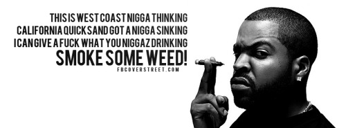 Ice Cube Smoke Some Weed Facebook Cover