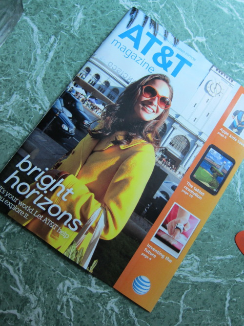 Finally! My 1st issue of AT&T magazine is here!
