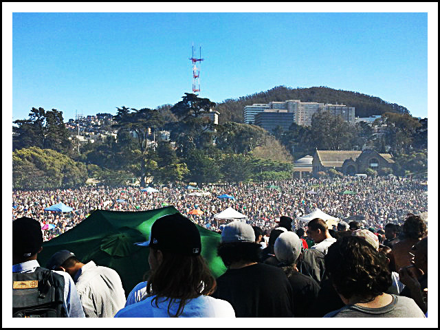 "4/20: ""Hippie Hill"" - Golden Gate Park, San Francisco, California"