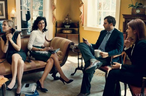 peterfeld:  Gov. Nikki Haley (R-SC) in a black pencil skirt, and platform stilettos, photographed by Norman Jean Roy for American Vogue.