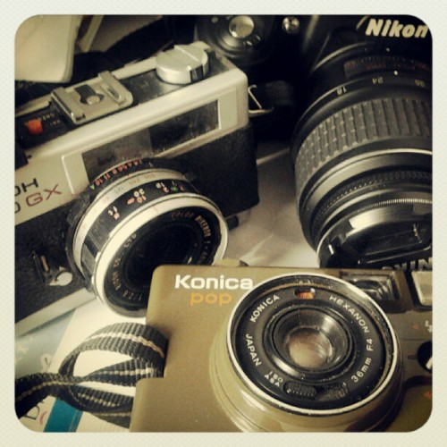 Dusty babies #camera #nikon #ricoh #konica (Taken with instagram)
