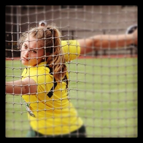Lauren Sens with the discus at the Oregon Relays. (Taken with Instagram at Hayward Field)