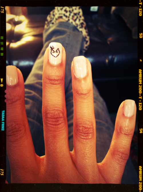 My little Browning deer couple nail decals came today! Too cute!