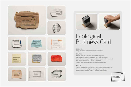 new-adventure:  Ecological Business Card