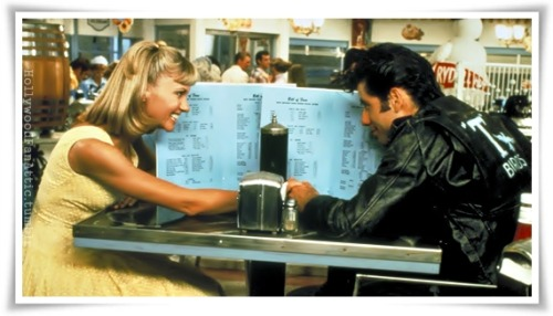 Sandy and Danny…diner flirts.