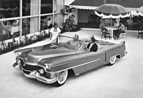 jeremylawson:   1953 Cadillac LeMans, one of four built.  In 1959 car #4 was reworked featuring quad headlights, new quarter panels, and a new drivetrain.  That car was seen in the movie The Buddy Holly Story.