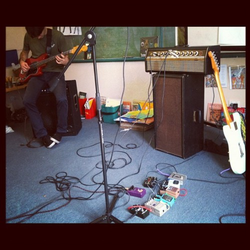 Rehearsing in the art room of a school (Taken with instagram)