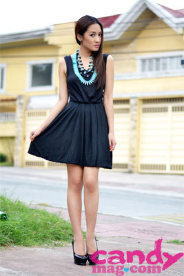 #CandyStyleStar @laureenuy wears a striking necklace with a simple black dress. (via 30 Days of Style: Style Stars | Candymag.com)
