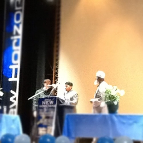 Matt accepts Islam… #epic #newhorizons3 #imamsiraj (Taken with instagram)
