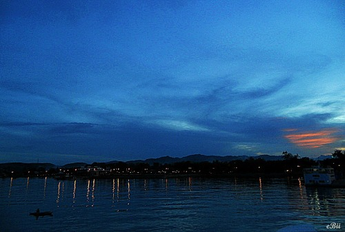 ♥ The Blue Hour at the Port of Danao City, Cebu.