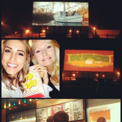 Awesome night with a Drive-in movie to see #TheLuckyOne with my favorite lady, aka Mom :)  (Taken with instagram)