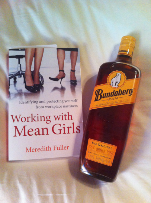 My Mum came bearing gifts. Should I drink the booze then read the book, or vice versa? Not sure which approach would yield the best results.