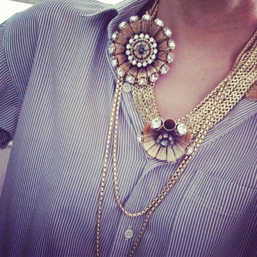 In your face #bijoux #patriziapepe #gold #crystal #necklace  (Taken with instagram)