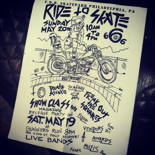 castandsalvage:  Ride 2 skate. May 20th. Be there (Taken with instagram)
