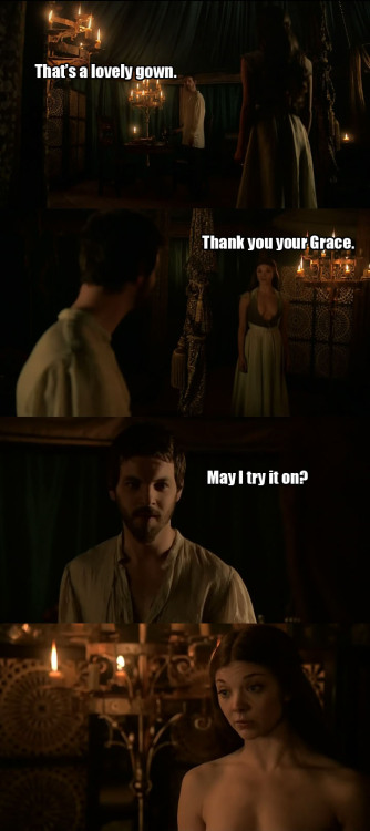 cumberrage:  geeknessandnerdery:  Oh Renly.   Had to watch it twice, this scene had me cracking up. Seriously Renly, you weren't fooling anyone.
