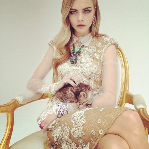 Cara Delevingne in Nick Knight's first ever Instagram photo shoot