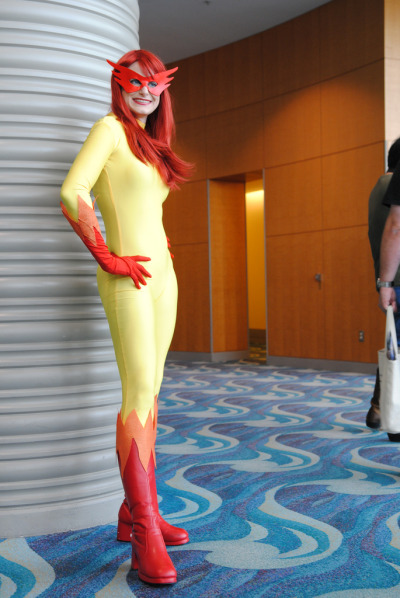 rabidpotato:  Firestar from Marvel Comics, first worn at Long Beach Comic-Con 2010. Costume and model: rabidpotato@tumblr Photo credit: dvann562@flickr