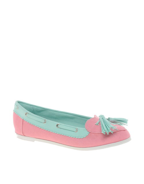 ASOS loveboat boat shoes with heart detail