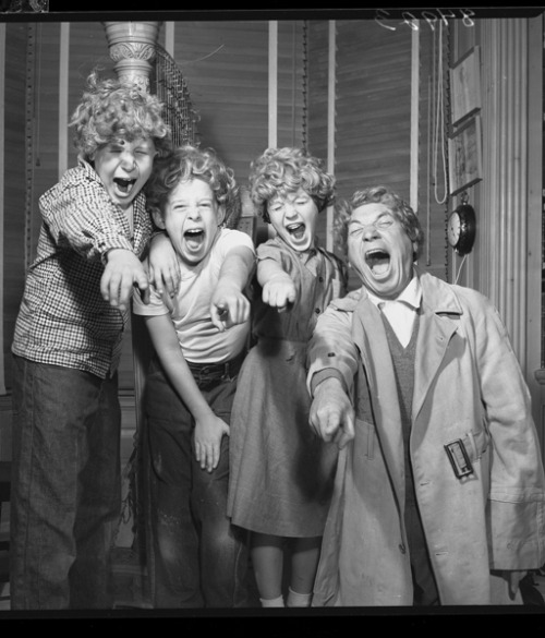 Harpo Marx and his children, 1954