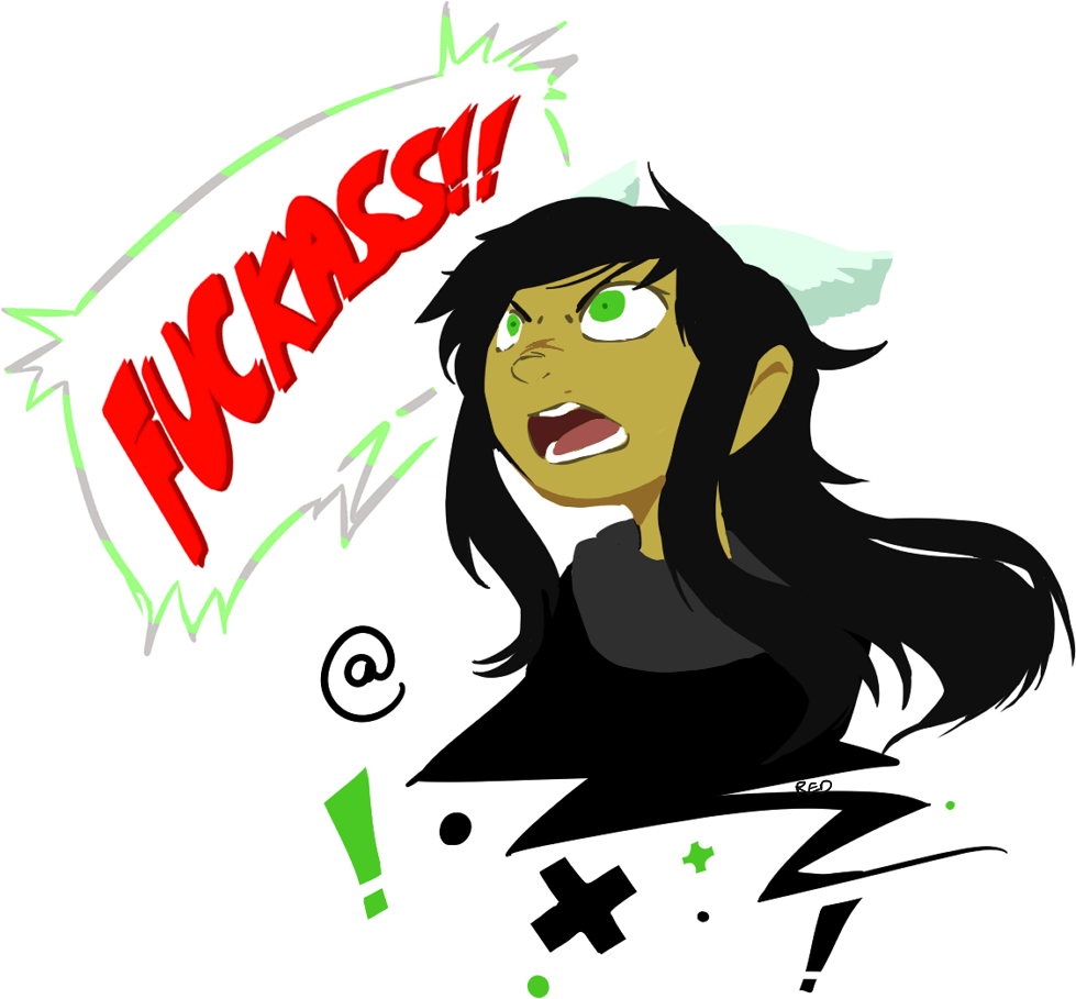 this was pretty cathartic. I imagine she's yelling at karkat or something what even is consistency
