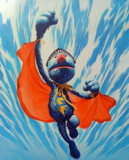 sesamestreet:  Super Grover to the rescue!
