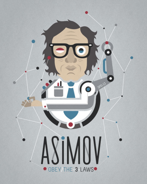 """Asimov's Laws"" Illustración para Threadless. Elaborada en Illustrator CS4©.  Marzo 2012. copyright ©"