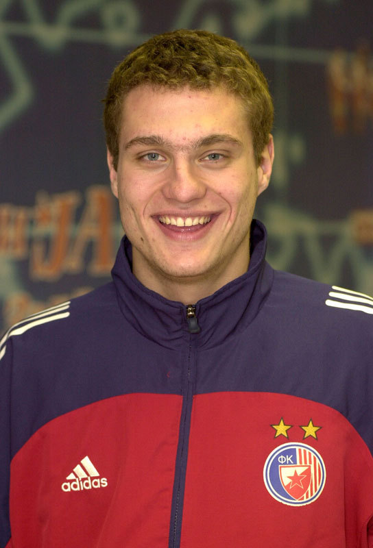 Nemanja Vidic(18) at Red Star Belgrade.