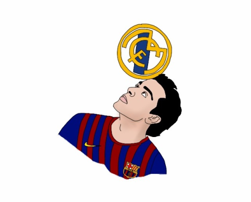 They shouldn't schedule tests on the day after a clasico.  I draw Xavi because his exquisite features can be traced by a dyslexic chimpanzee.