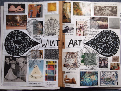 A double page brainstorm on 'What is art' I made last year for my critical studies unit.