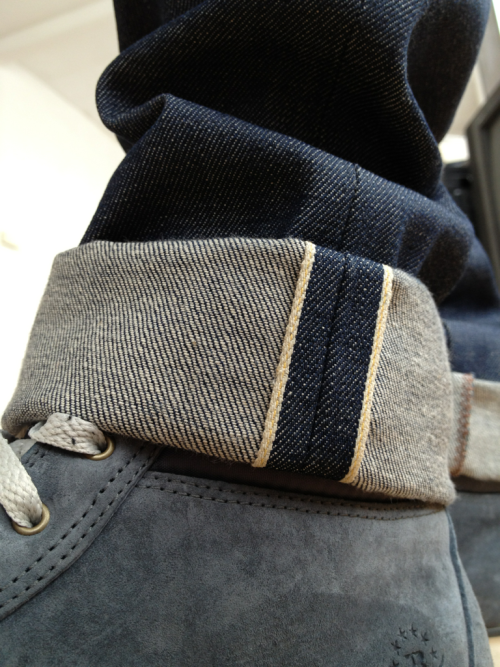Naked & famous natural indigo selvedge.