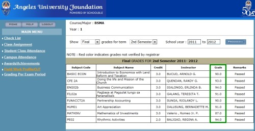 Hello! I wanna share my grades to you! <3 I'm so happy I've maintain my Scholarship! <3 Hope I can keep it up ! My dream is to be a CERTIFIED PUBLIC ACCOUNTANT!!! I will do anything to reach my dream, Help me Ok?!