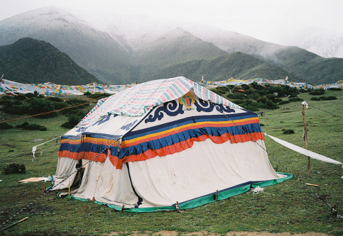 Tent Near Drikung Til Sky Burial Site by lylevincent on Flickr.