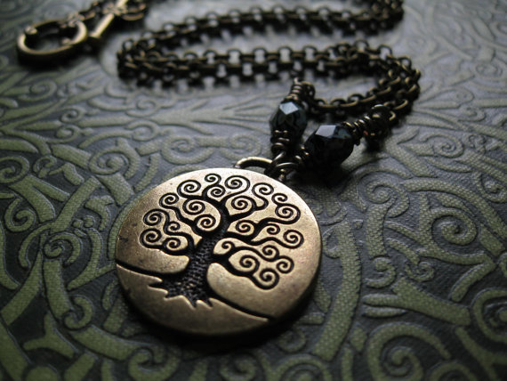 LOVE it. paganborn:  (via Tree of Life Necklace in Brass Yggdrasil Wicca by feralstrumpet)