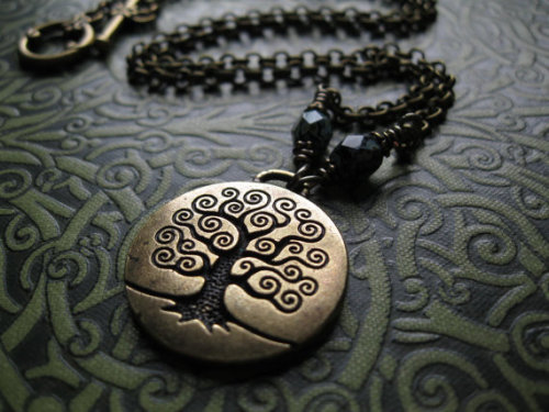niffermama:  LOVE it. paganborn:  (via Tree of Life Necklace in Brass Yggdrasil Wicca by feralstrumpet)