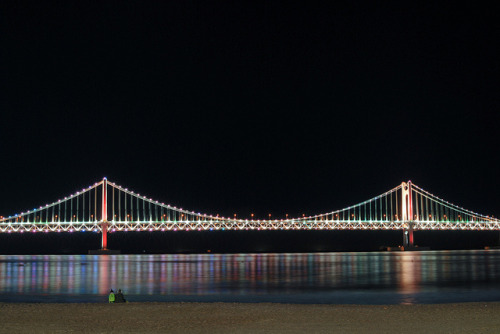 Gwangan Bridge(광안대교) on Flickr.Via Flickr: A photo night out before the exam week.