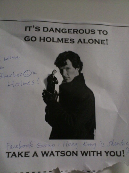 Take a John, Sherlock.