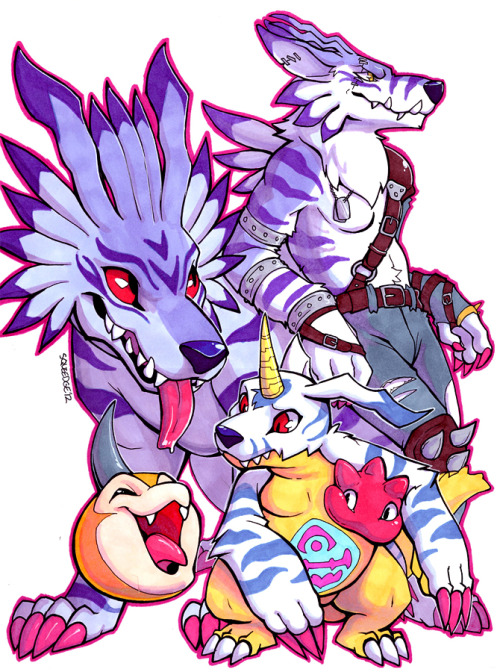 squeedgeart:  Gabu Fam by =squeedgemonster HOLY SMOKES I did something traditional. Yeah, new markers, wanted to test 'em on these guys!Traditional art is… more work than I remember. This took forever-and-a-half, and I have SO MUCH to re-learn about using markers it's not even funny.Hard to believe it used to be my medium of choice!   You know I'm going to tag this, you guys. It's a crime not to.