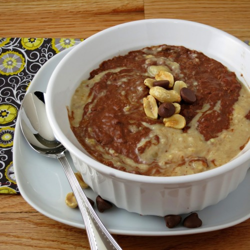 hungry-for-yum:  (via Chocolate Peanut Butter Oatmeal | Alida's Kitchen)