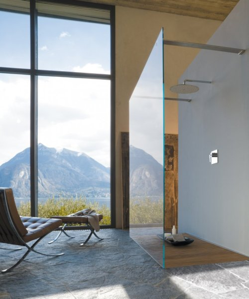 justthedesign:  justthedesign: Barcelona Chair / Stone Floor / Mountain View