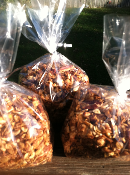 My homemade granola.  I'm making a batch for my LIVESTRONG class this week!