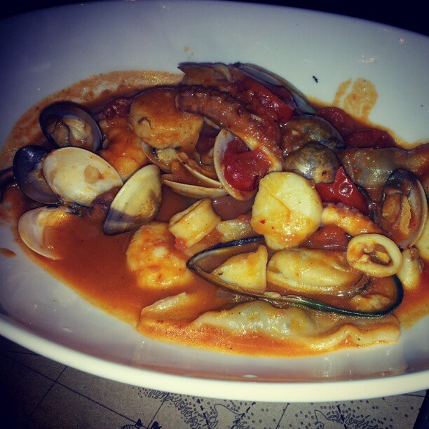 Dinner @ Via Pre, fish ravioli was amazing! #italian #food #seafood  (Taken with instagram)