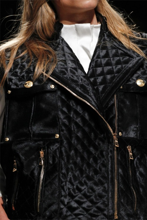 toouglyforfashion:  Detail at Balmain F/W 2012-13