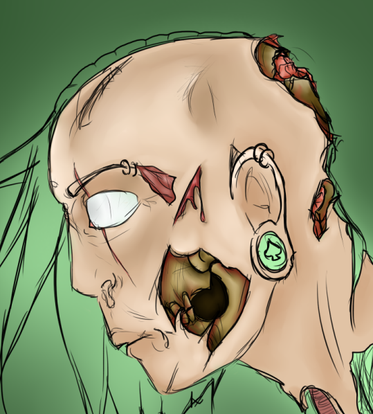 Started to make a zombie, this is how it's looking so far