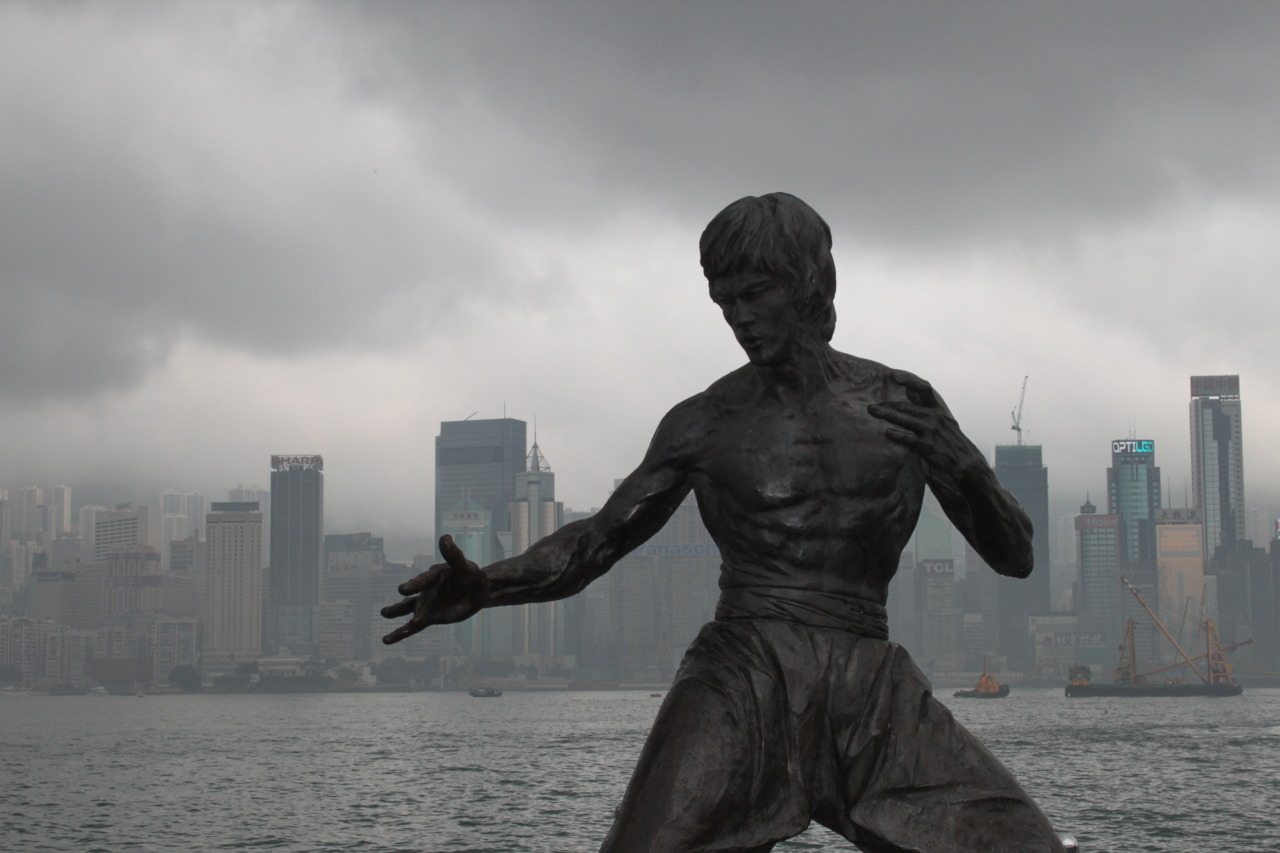 The Way of the Dragon Bruce Lee Statue. Hong Kong.