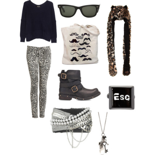 Wild Look by donysawoch featuring hatsJunya Watanabe sweater, $765Legging, $344Jeffrey Campbell boots, £160Tote bag, $10Fiona Paxton bracelet, £135ASOS ring, $11Necklace, $19Hat, $20Ray-Ban sunglasses, 190 CAD