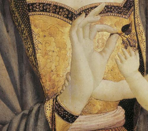 touba:  Domenico Veneziano, Madonna and Child, c. 1435-37 (detail)