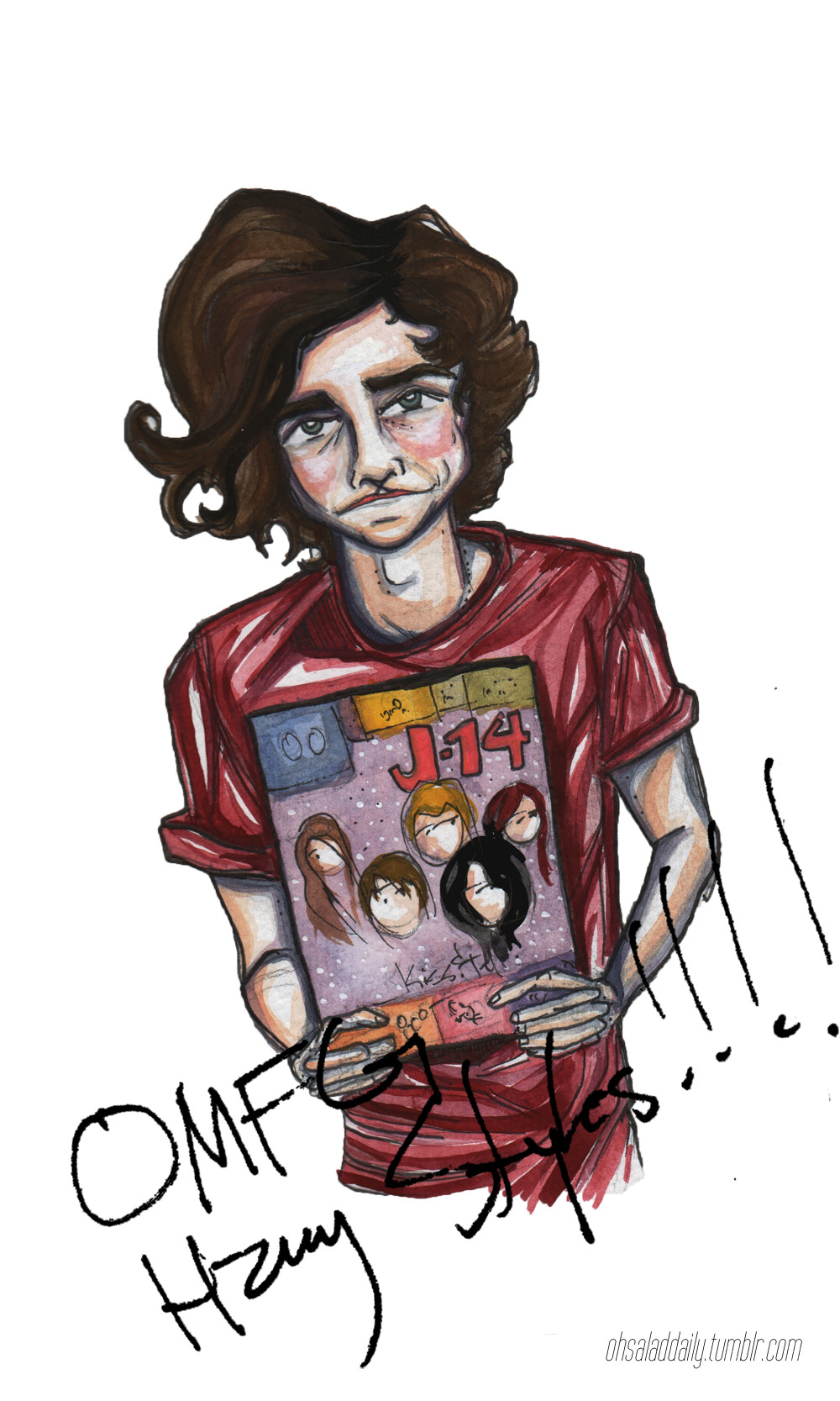 i make zero promises that this is my last time drawing one direction or a member thereof
