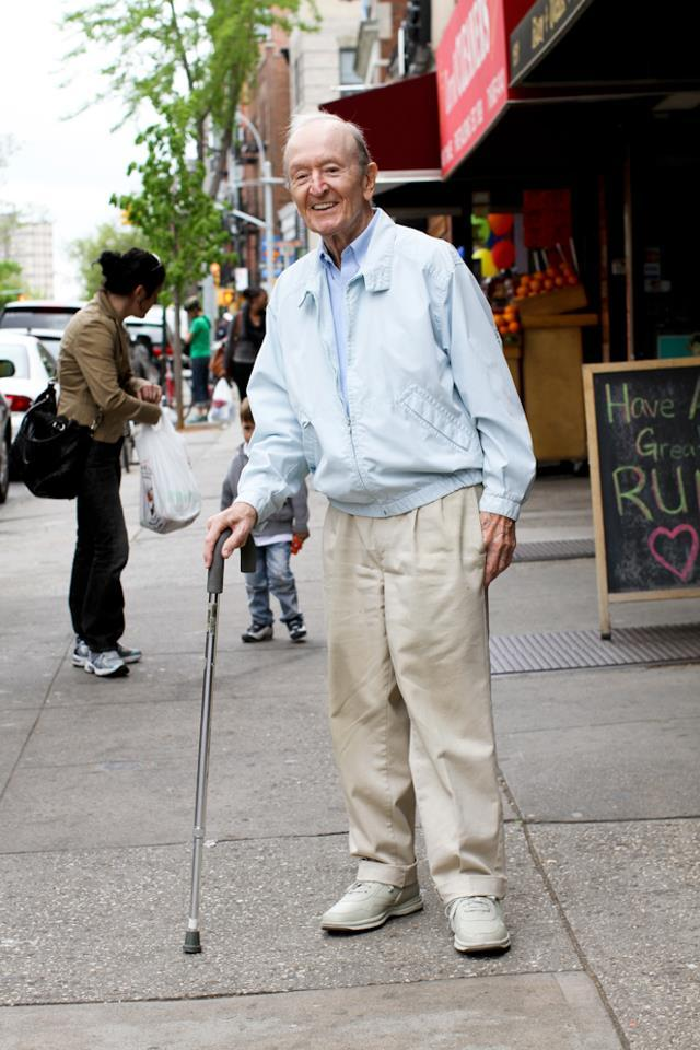 "humansofnewyork:  I found this man on 7th Avenue in Park Slope. He was leaning heavily on his cane, looking down, wearing a grimaced face. I felt bad for him, so I smiled and waved when I walked past. His face changed completely. He lit up, smiled wide, and gave me a cheery greeting. There was nothing forced about it. He seemed like a man who went through life looking for the smallest excuses to be happy.I walked 50 feet down the sidewalk, turned around, and walked back to him. ""I want to take your photo,"" I told him, ""because of how big you smiled when I walked by.""He said: ""Well I saw someone smiling at me who I didn't even know. So I thought: 'By God! I Better do something!'"""