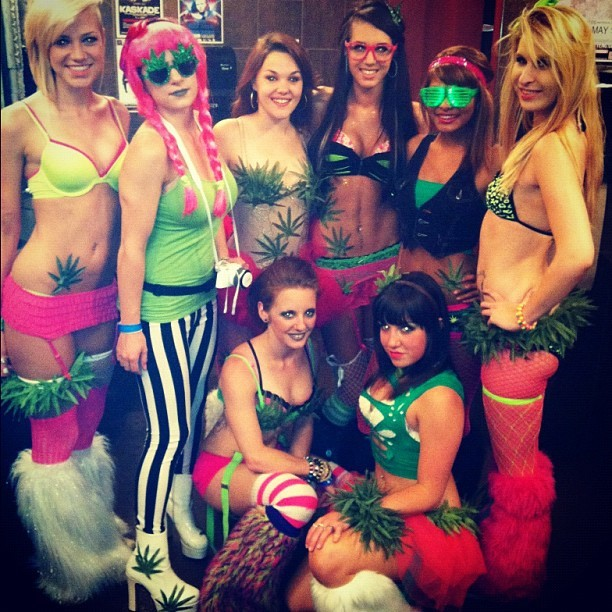 #gogo #dancers #weed #420 #thechaoticcupcakes #Basschurch #EDM #rave #Charlotte #ragesquad #704 #tutu #tights #fishnets #sexy #bitches #fluffies #smoke #costume (Taken with instagram)